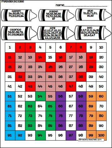This is  hundreds chart puzzle for valentine   day available free on madebyteachers students color the to reveal hidden picture also love teacher february pinterest rh
