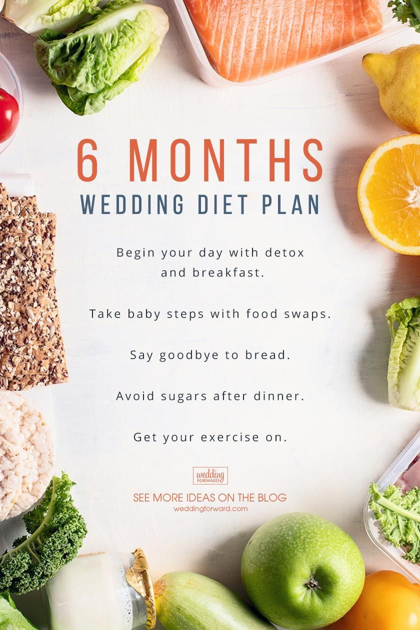 how to lose weight 6 months before your wedding