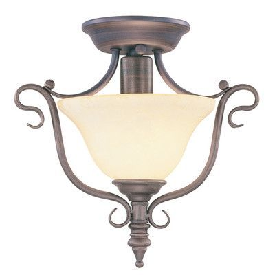 Livex Lighting Coronado Semi Flush Mount Finish: