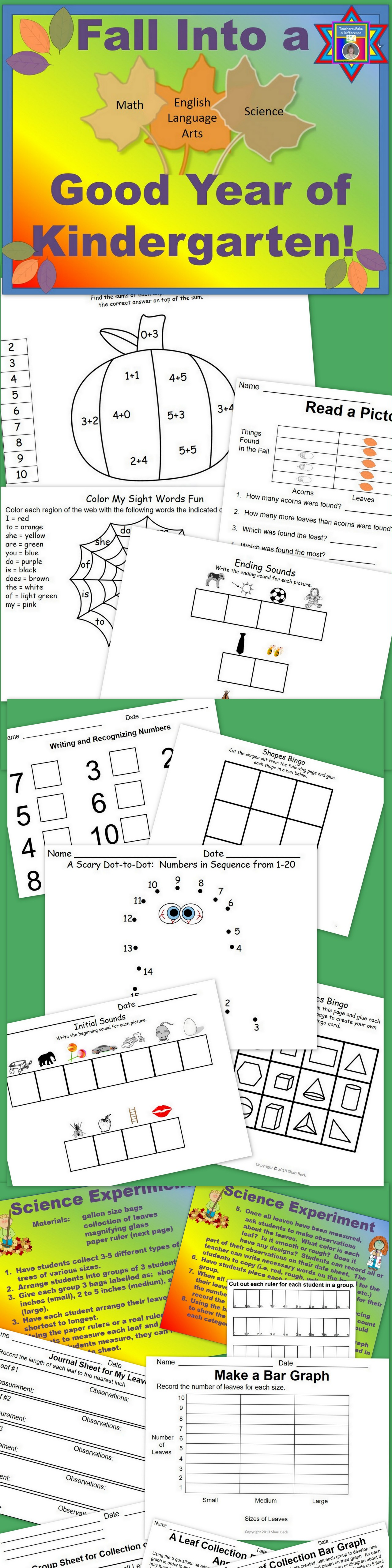 Sight Words Numbers And Science Fall Into A Good