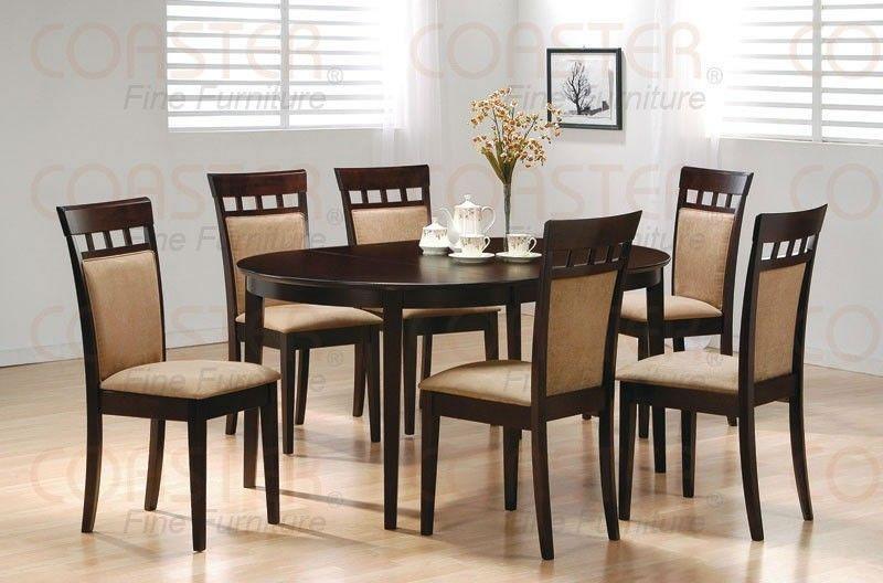 Coaster Furniture - Mix & Match 7 Piece Oval Dining Set ...