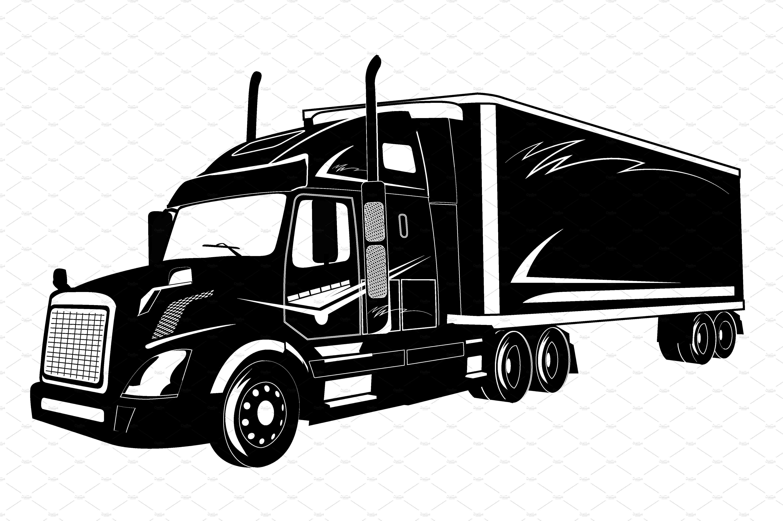 Icon of truck, semi truck, vector Trucks, Semi trucks