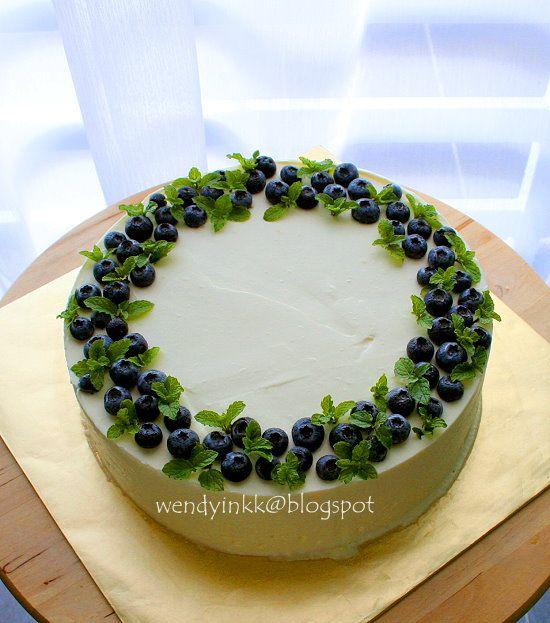 Cake decoration chocolate leaves blueberry cakes - Mousse decoration ...