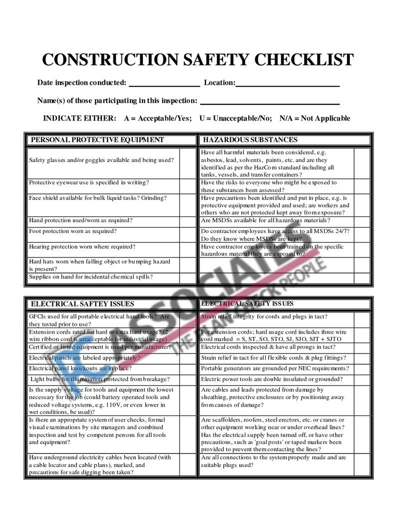 Building and Construction Project Manager Checklist