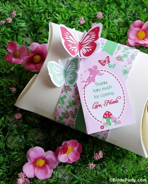 pink butterflies Birthday Party Ideas Girl birthday Favours and