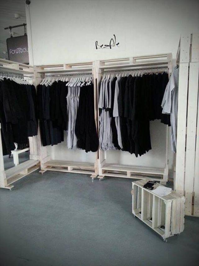 Pallet Furniture for Storage | Palets, Vestidor y Tarimas