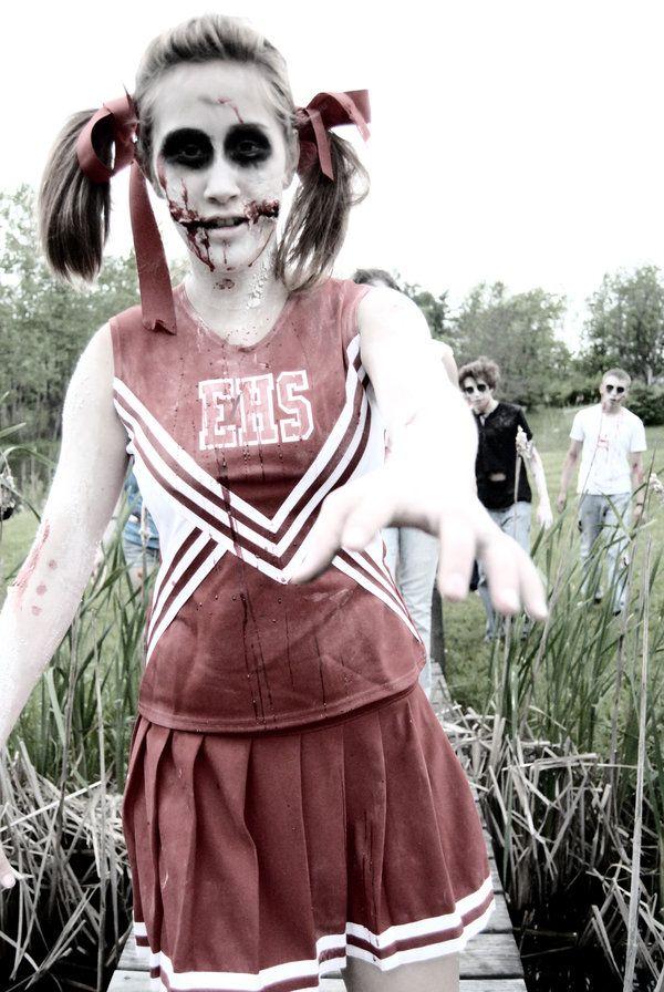 Zombie cheerleader | Halloween costume | Pinterest | Maya, The o ...