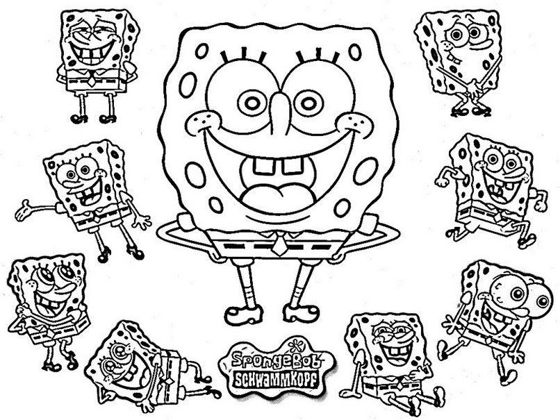 coloring page spongebob hd  spongebob coloring coloring
