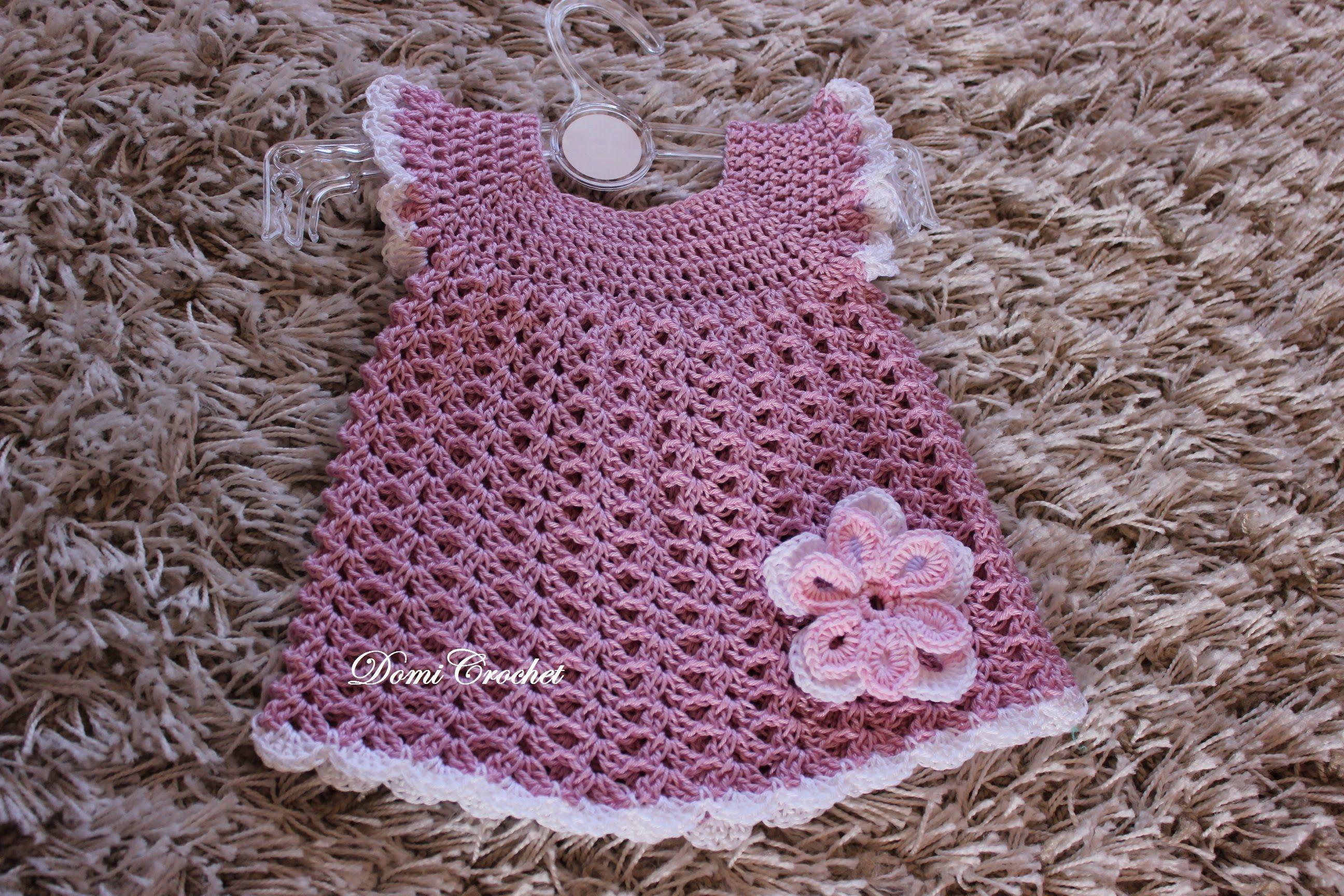 e50eac35eafc Háčkované detské šaty - 1.časť