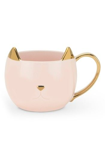 Free shipping and returns on Pinky Up Chloe Cat Ceramic Mug at Nordstrom.com. A feline-inspired mug with gold accents provides the perfect way to enjoy your favorite brew while you #ceramicmugs