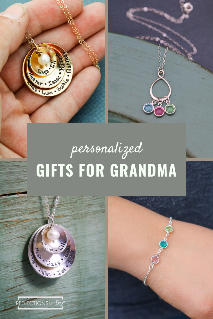 Find Beautiful High Quality Gifts For Your Grandma Personalize Them With Birthstones Engraved Names And Initials Even Metals