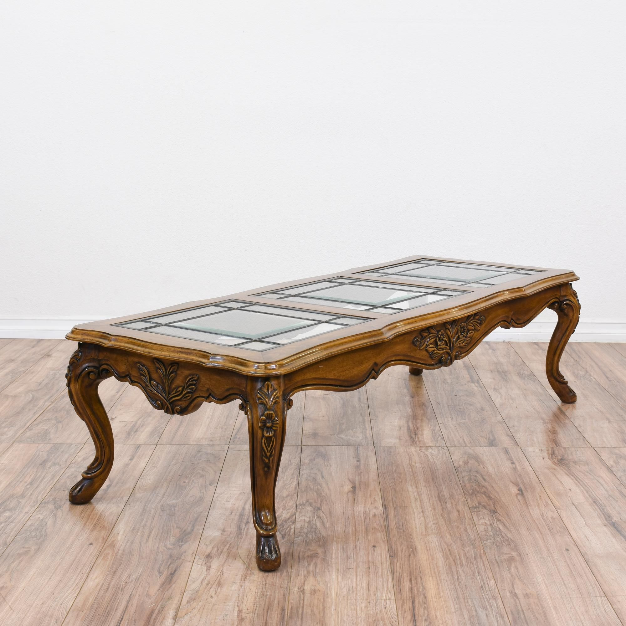 This French Provincial Coffee Table Is Featured In A Solid Wood With A Glossy Oak Finish This Coffee Table Coffee Table Glass Top Coffee Table Glass Top Table [ 2000 x 2000 Pixel ]