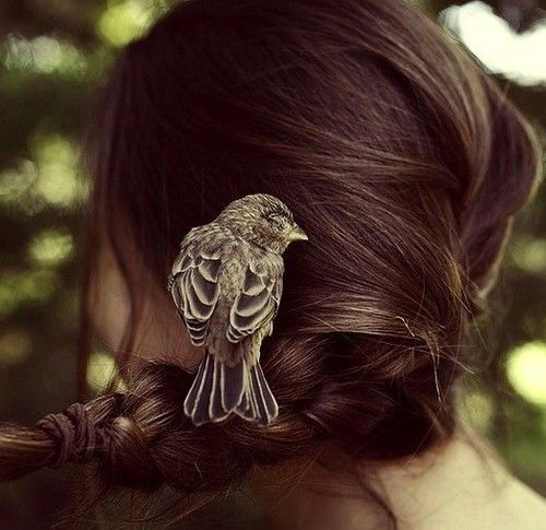 When all else fails, let small birds land in your hair, Disney princess style.