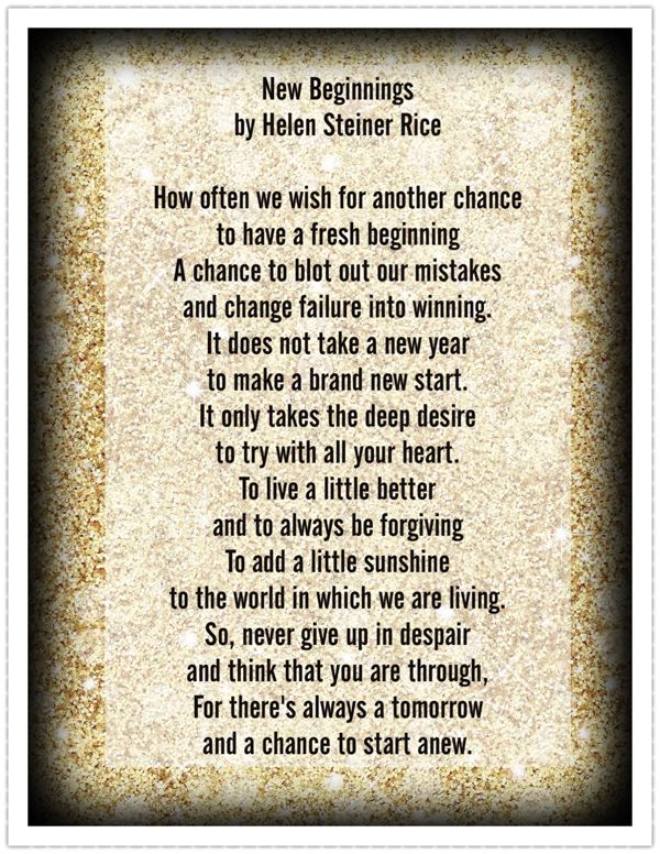 New Beginnings ~ by Helen Steiner Rice | Inspirations in 2018 ...