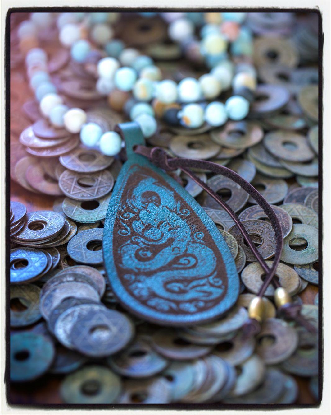 Custom leather tags made for cheryldufaultdesigns.com
