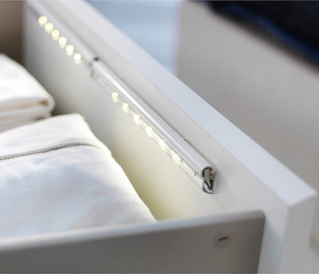Ikea closet lighting Stotta Dioder Led Drawer Light Great Idea For People Who Work Different Shifts Pinterest Dioder Led Drawer Light Great Idea For People Who Work Different