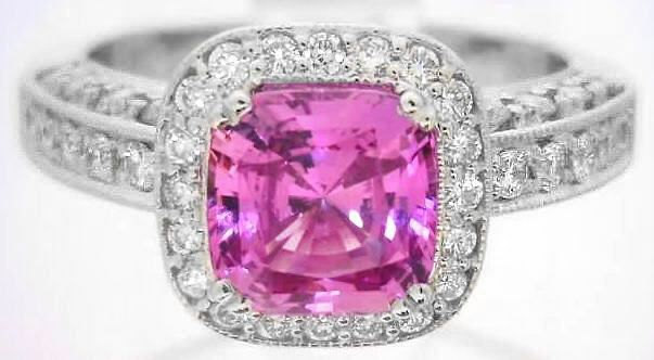 jewelers diamond pink rings engagement francis sapphire created ring