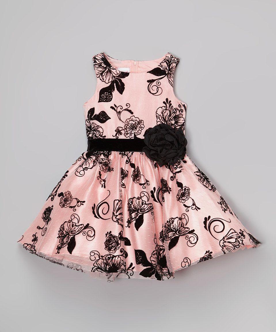 Look at this #zulilyfind! Nannette Pink & Black Floral Dress ...