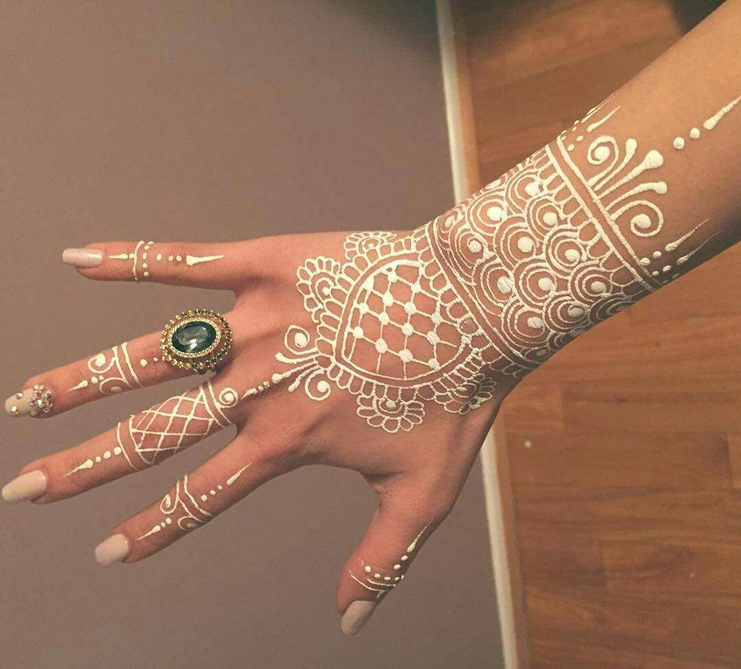 Henna Mehndi Tattoo Designs Idea For Wrist: White Henna Tattoo, Henna Tattoo Designs, White