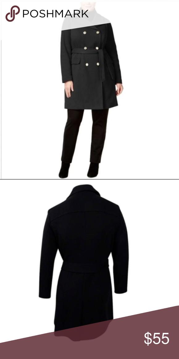 efac58026c6 INC Plus Size Double-Breasted Pea Coat w Belt 1X INC International Concepts  Women s