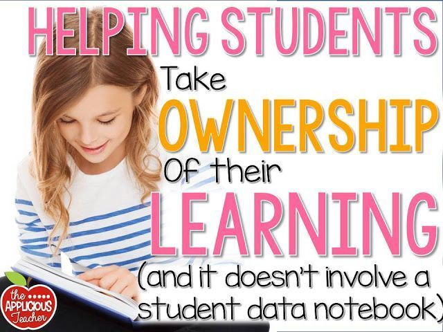 Helping students take ownership of their learning without a Student Data Notebook. Great tips for helping students reflect on their work and learning.