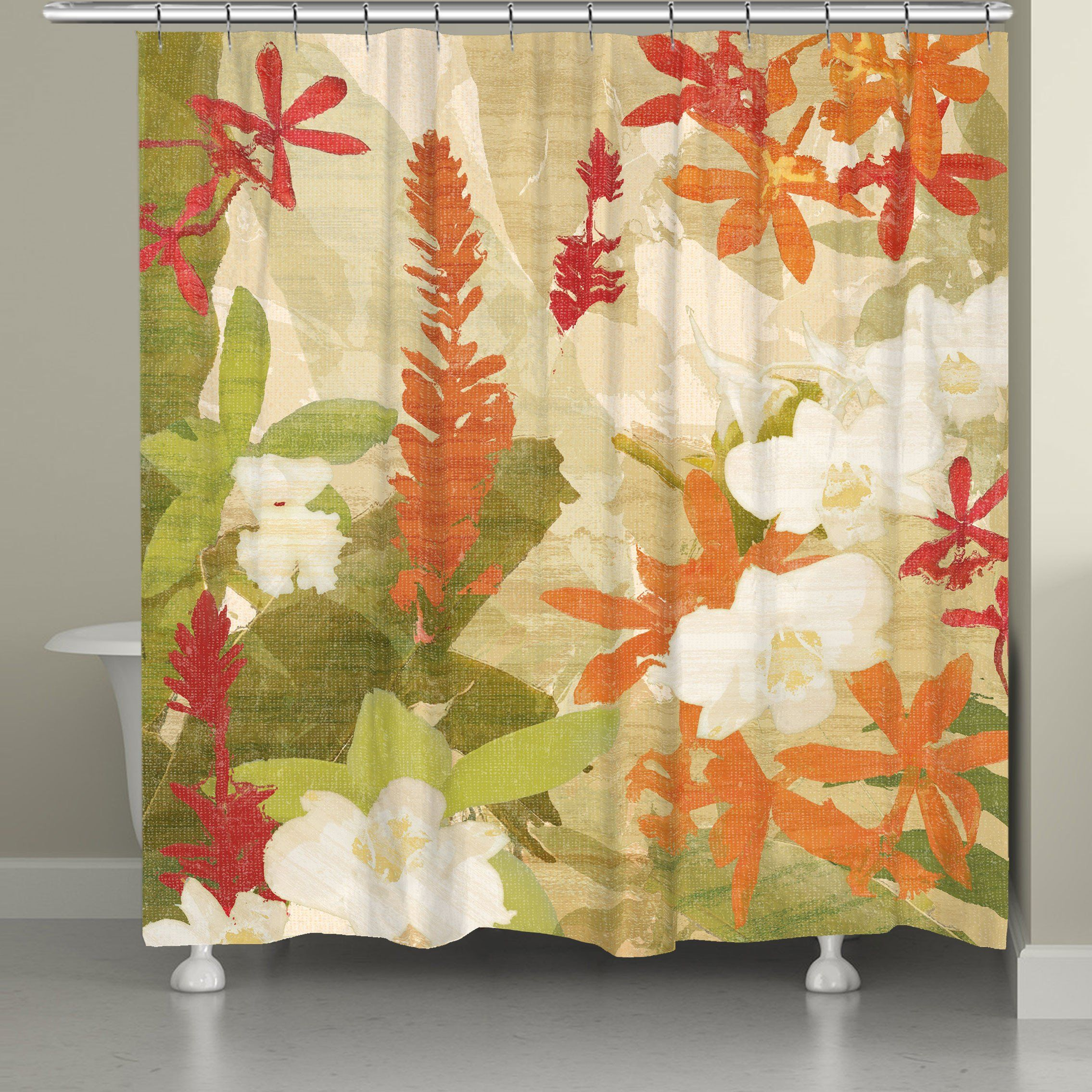 mainstays striking vinyl curtain leaf gratograt curtains picture walmart tropical size photos full unique of shower best