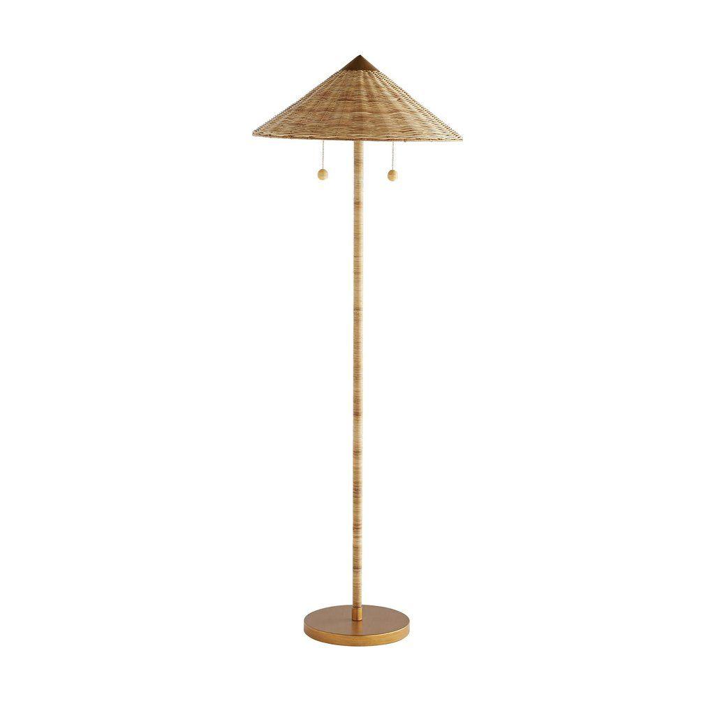 Terrace Floor Lamp Wicker Floor Lamp Floor Lamp Contemporary