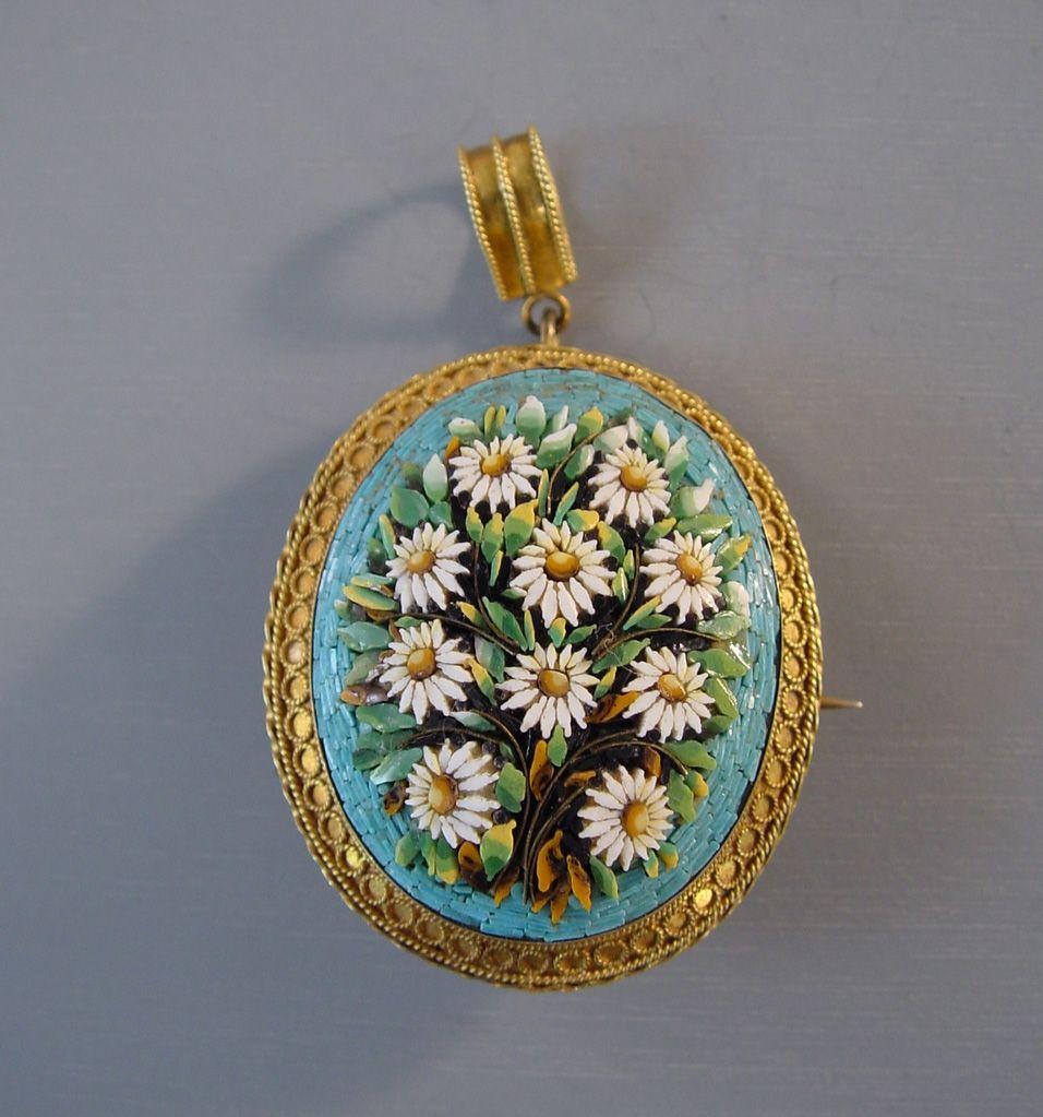 Florentine mico mosaic pendant