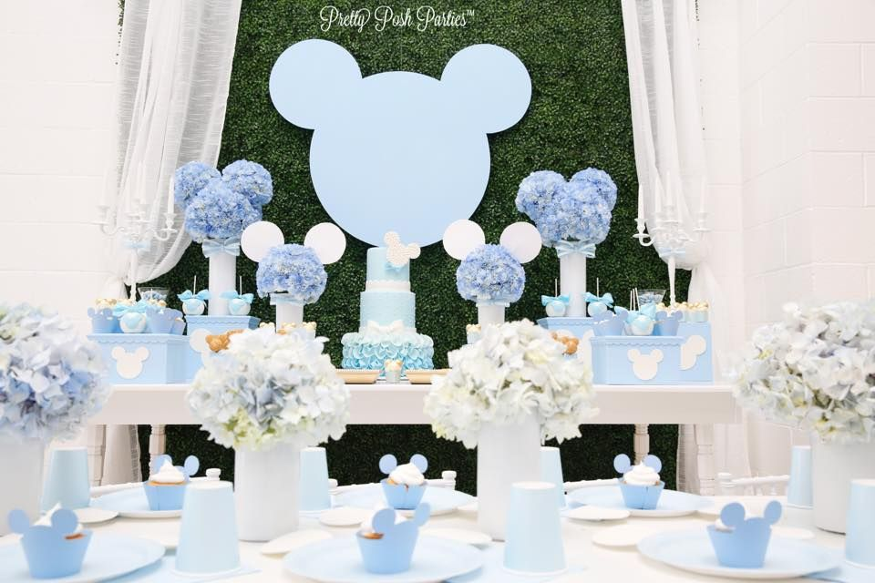 Blue Mickey Mouse Inspired Baby Shower Boy Baby Shower In 2018