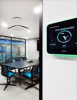 Your Guide To Office Technology Essentials Meeting Room Booking System Meeting Room Digital Signage Displays