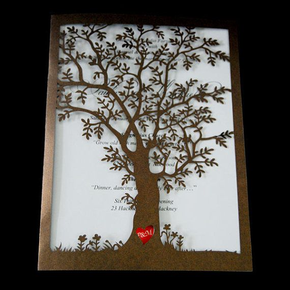 Exclusive DIY Einladung Lasercut Mit Wedding Tree Von Mary Poppins Auf  DaWanda.com