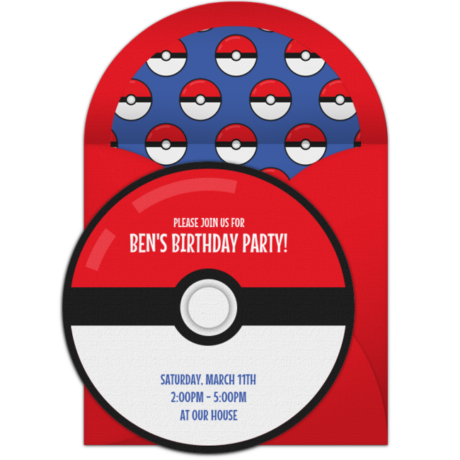 Customizable Free Trainer Party Online Invitations Easy To Personalize And Send For A Pokemon Punchbowl