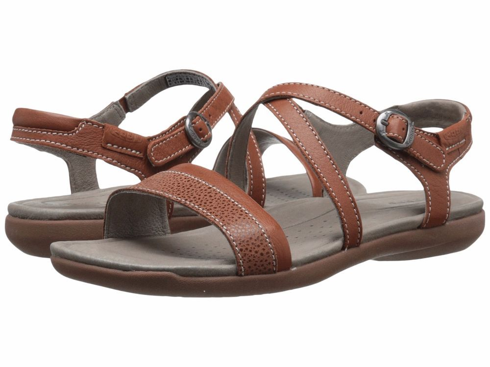 07ea09c5571 Keen Womens Rose City Jetty Brown T-Strap Sandals Shoes 6 Medium (B ...