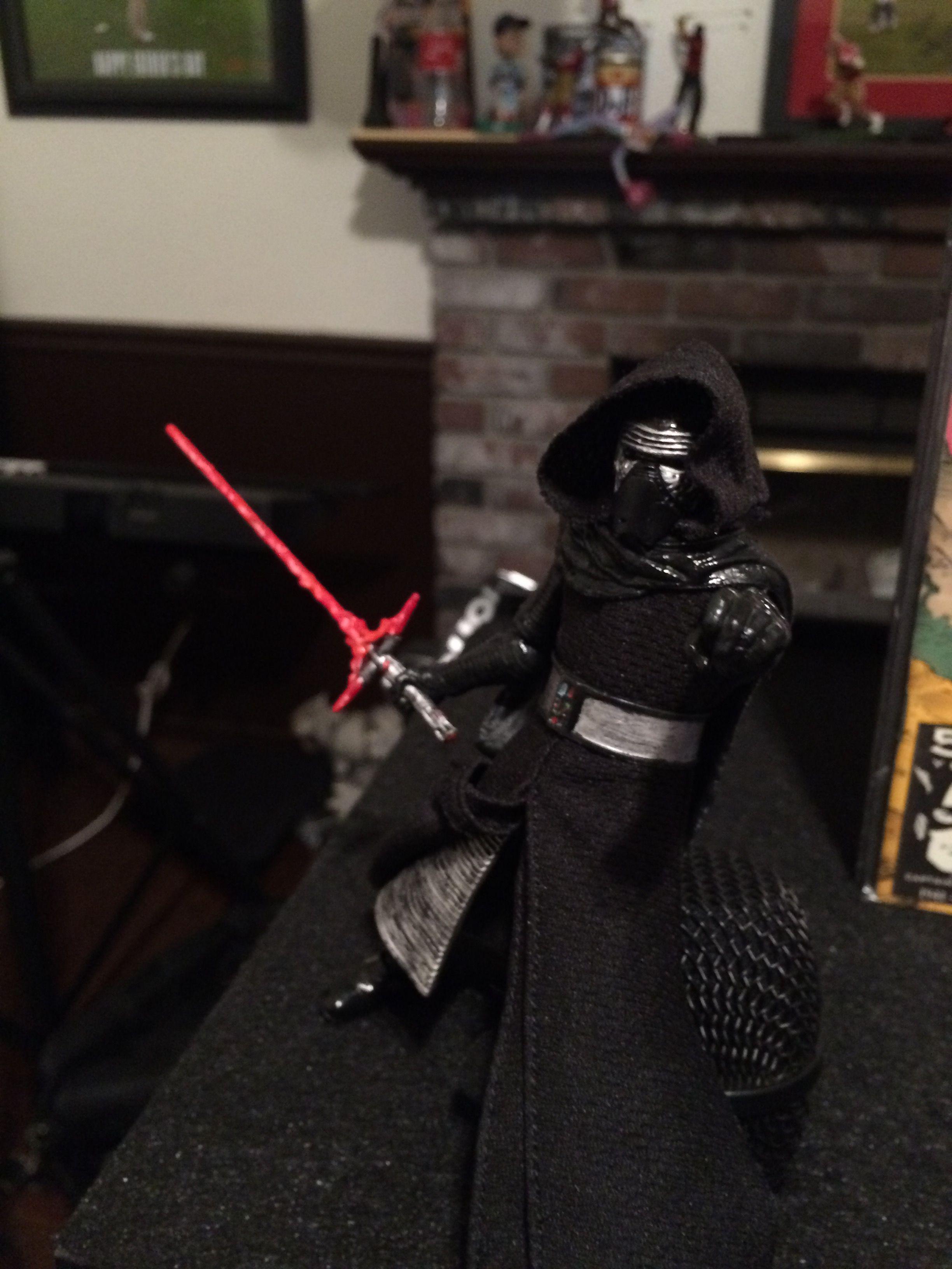 ec0d671435e99b My latest Custom Star Wars Black Series 6 inch Kylo Ren The Force Awakens  Figure.