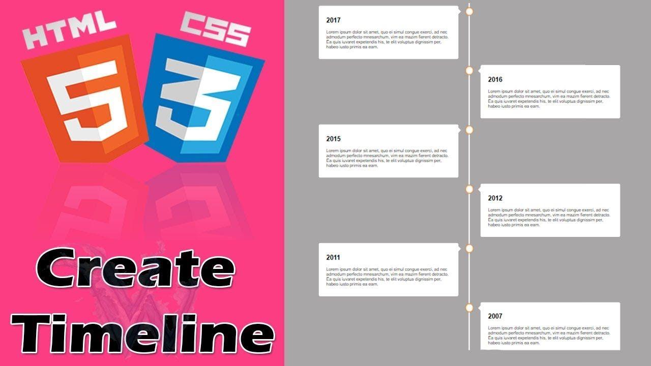 Vertical Timeline Css Bootstrap Html5 Timeline Animation Html