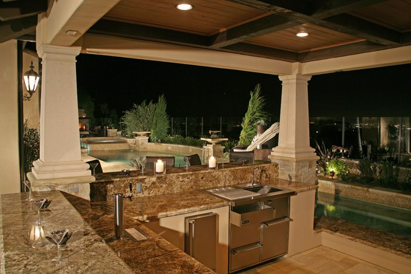 custom design covered patios | Custom outdoor stone patio cover ...