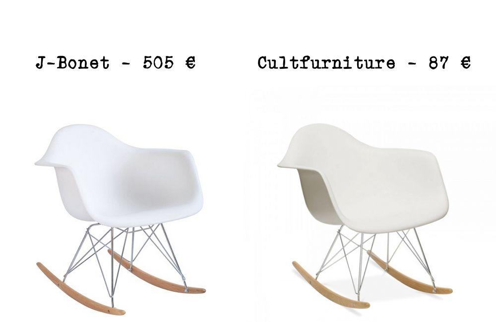 Le mªme en moins cher un fauteuil  bascule RAR Charles Eames