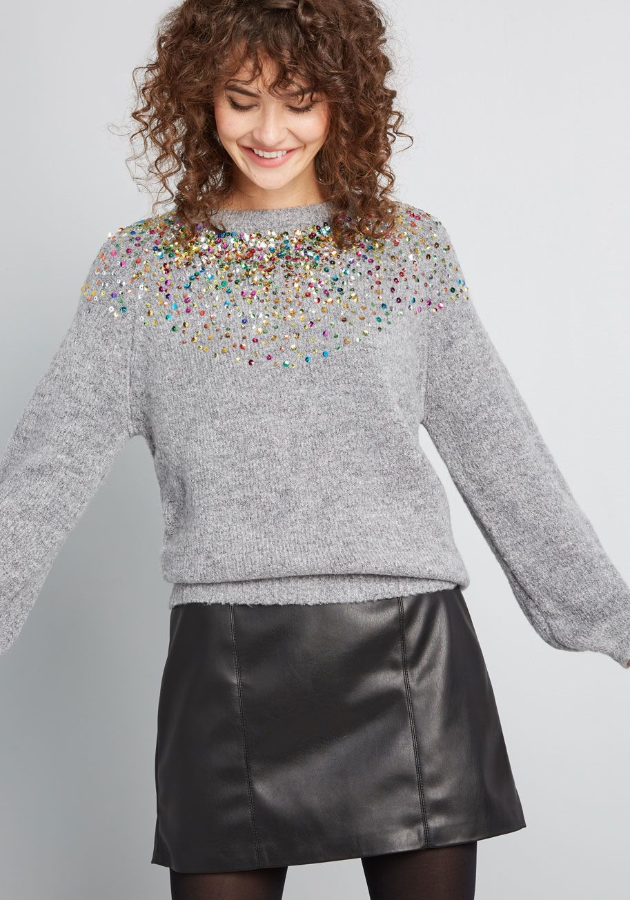 Ready for Confetti Sequin Sweater in 2020 Sequin sweater