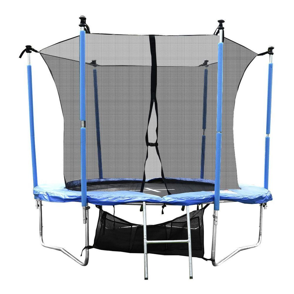 Trampoline Set Safety Net Enclosure With Ladder Carry Bag Rain Cover ...