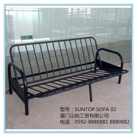 Folding Tubular Sofa Bed Double Metal Futon Sofabed Frame Base