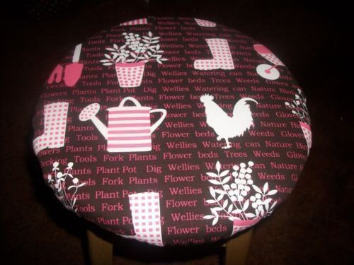 Astonishing 12 Reversible Bar Stool Cover Pink Brown Garden Rooster Gmtry Best Dining Table And Chair Ideas Images Gmtryco