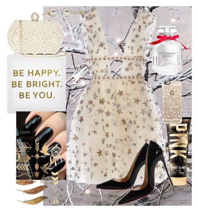 """""""misc  in Black & gold"""" by annalisa-s on Polyvore featuring Ankit, Christian Louboutin, Casetify, Victoria's Secret and GUESS by Marciano"""