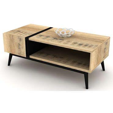 Table Basse Ethnica Coloris Gris X2f Noir Pas Cher C 39 Est Sur Conforama Fr Large Choix Prix Table Basse Table Basse Rectangulaire Table Basse Design