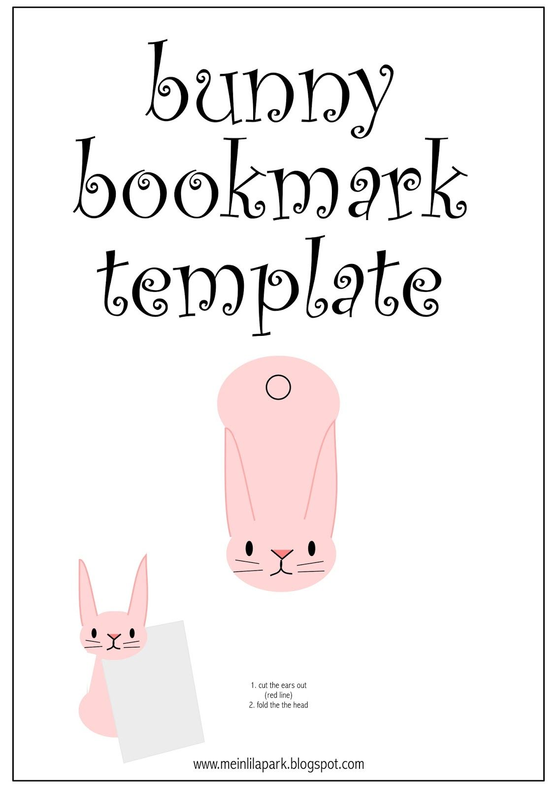 free printable bunny bookmark foldable printables pinterest