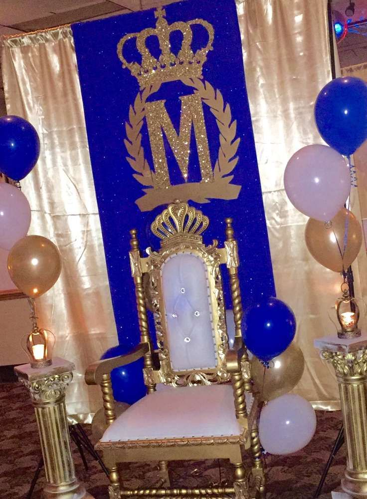 Chair Of Honor At A Royal Prince Birthday Party See More Ideas CatchMyParty