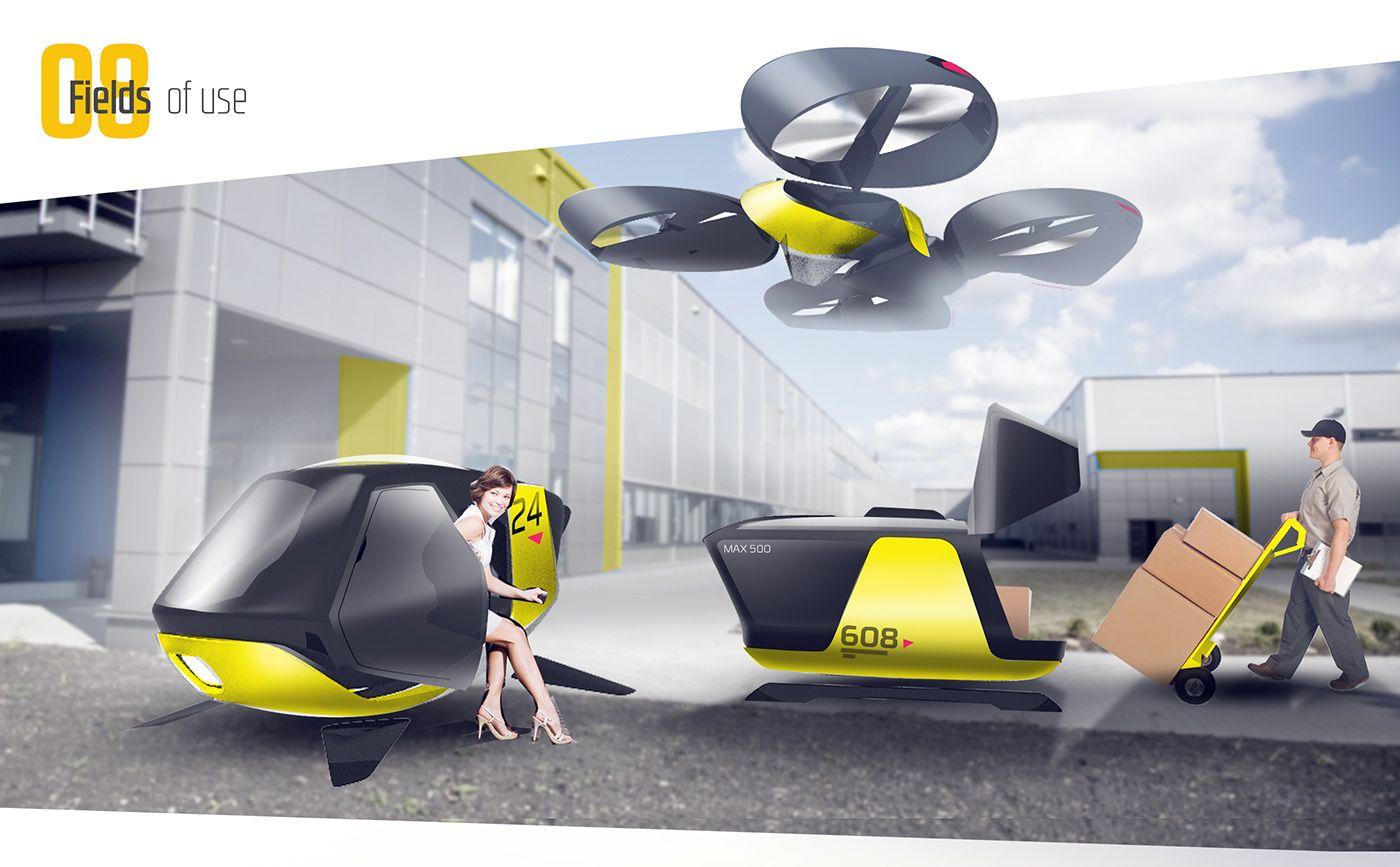 Future Tech Passenger Drone On Behance