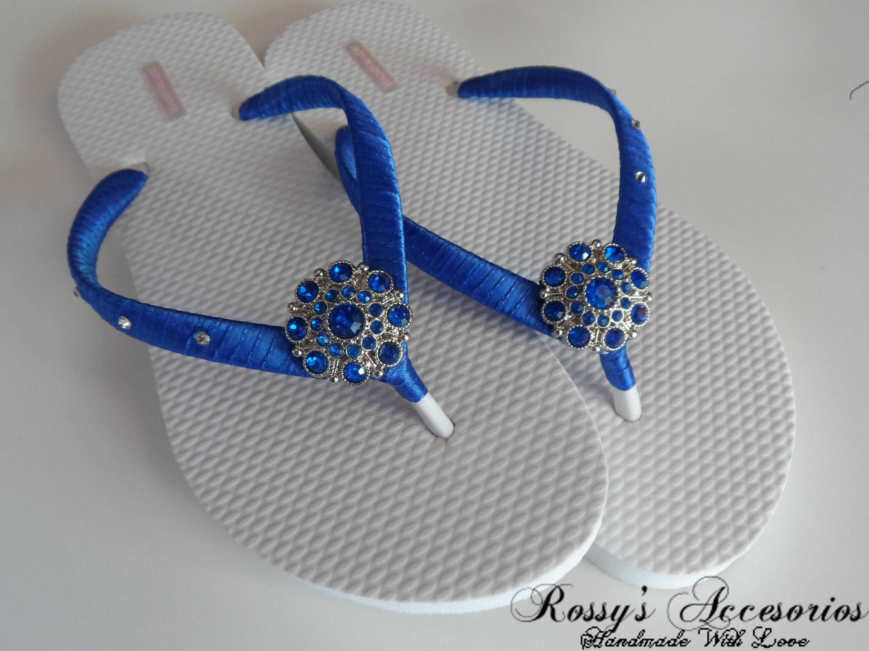329256bf3 Royal Blue Party Flip Flops   Bridal Shower flip flops   Beach Wedding Flip  Flops   Bachelorette Flip Flops  Bride Gift   Bridesmaid Gift.