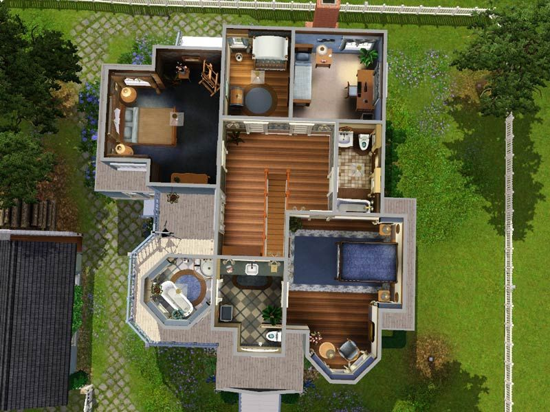 The sims 3 house plans floor plans sims 3 probz for Sims 2 house designs floor plans