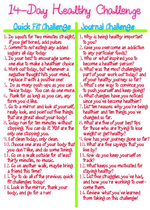 Health challenge ideas