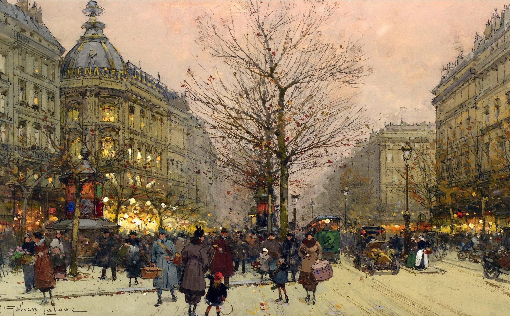 Eugene Galien-Laloue ( 1854 - 1941) - Les Grands Boulevards, Paris